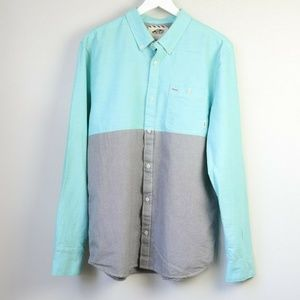 Vans Off The Wall Colorblock Button Down Shirt